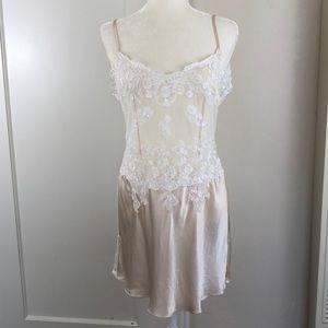 Romantic lace & silk Victoria's Secret slip bridal